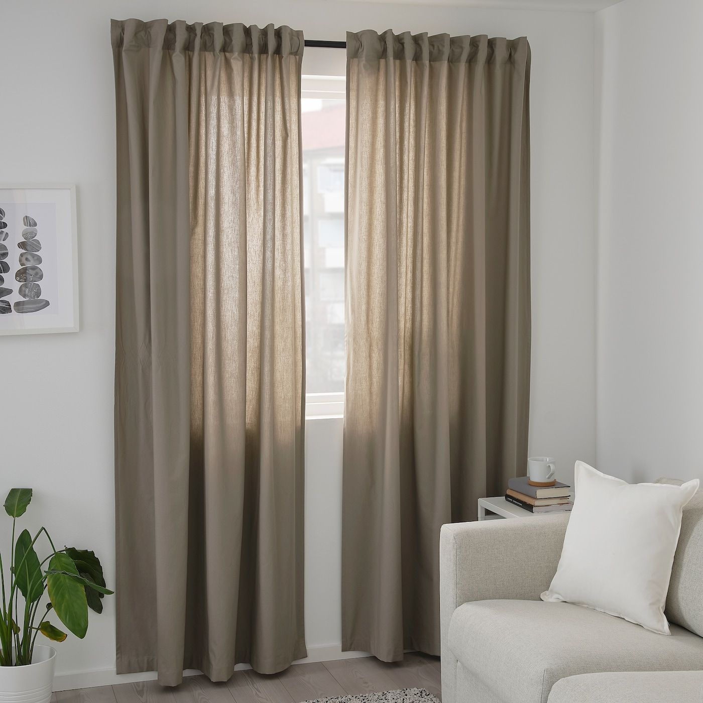 Pin By Bella On Gorden In 2020 Beige Curtains Living Room Room
