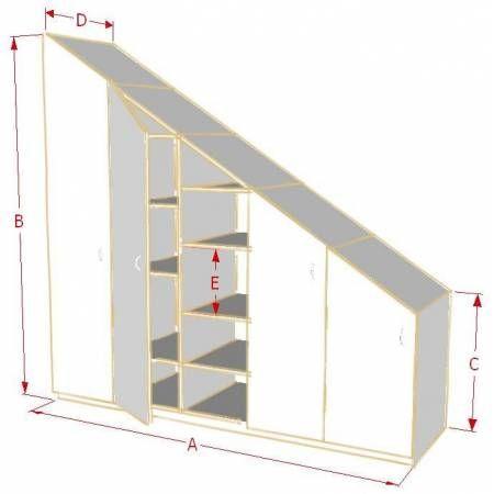 armoire de rangement sous pente sur mesure dom pinterest rangement sous pente armoire de. Black Bedroom Furniture Sets. Home Design Ideas
