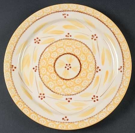 Temp-Tations Old World-Yellow Dinner Plate, Fine China Dinnerware by Temp-Tations. $11.99. Temp-Tations - Temp-Tations Old World-Yellow Dinner Plate - Yellow Sponge Bands,Red Dot Flowers