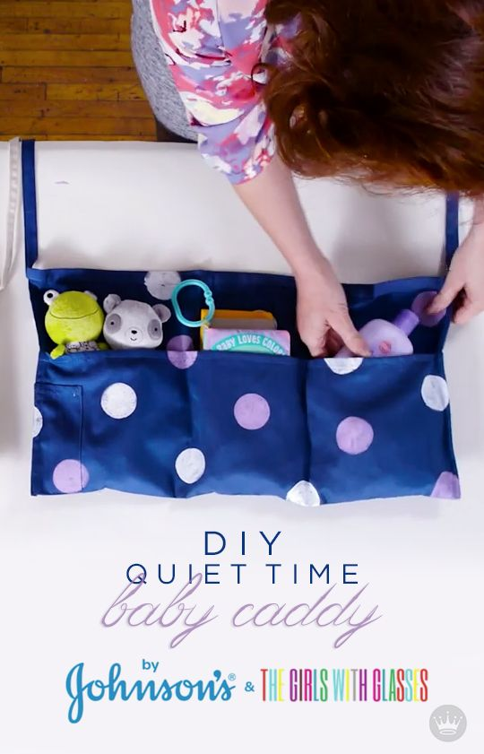 Help your baby wind down with this quiet activity and bedtime routine. JOHNSON'S® partners with Brooke White and Summer Bellessa of the Girls with Glasses, in this video tutorial on how to make a DIY Quiet Time Caddy for your little one. With an apron, non-toxic paint, a little lace, JOHNSON'S® Baby Bedtime Lotion, and plush toys from Hallmark—you've got a sweet baby shower gift idea or nighttime activity for your child.