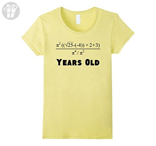 Womens 21 Years Old Algebra Equation Funny 21st Birthday Math Shirt Medium Lemon