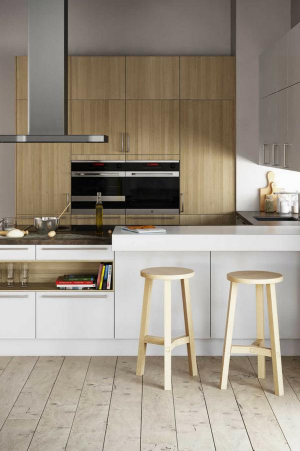 skandinavische kuche kuche im landhausstil skandinavischer landhausstil moderne kuche wohnkuche hell kochinsel kucheninsel bar holzstuhle