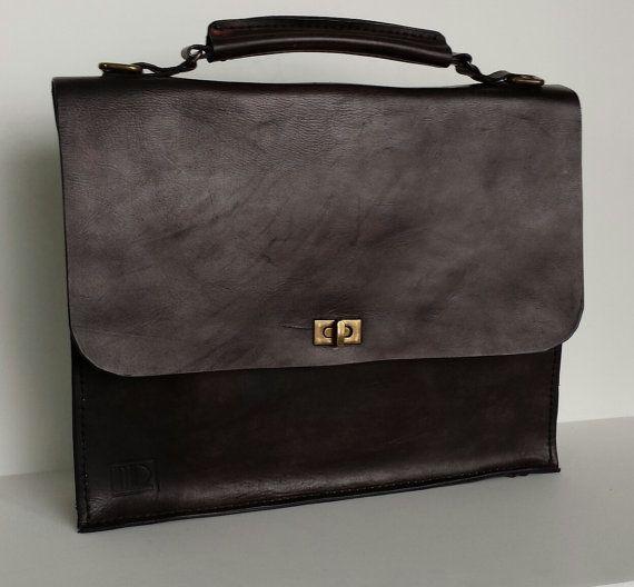Leather Briefcase / Handmade / Men's Accessories