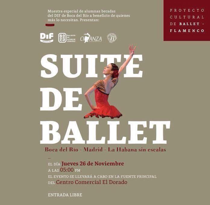 MAÑANA jueves 26 de noviembre a las 5pm... ¡no te puedes perder SUITE DE BALLET! ¡Entrada libre!