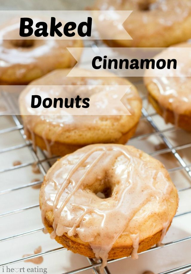 Baked Cinnamon Donuts http://www.ihearteating.com/2013/06/19/baked-cinnamon-donuts/