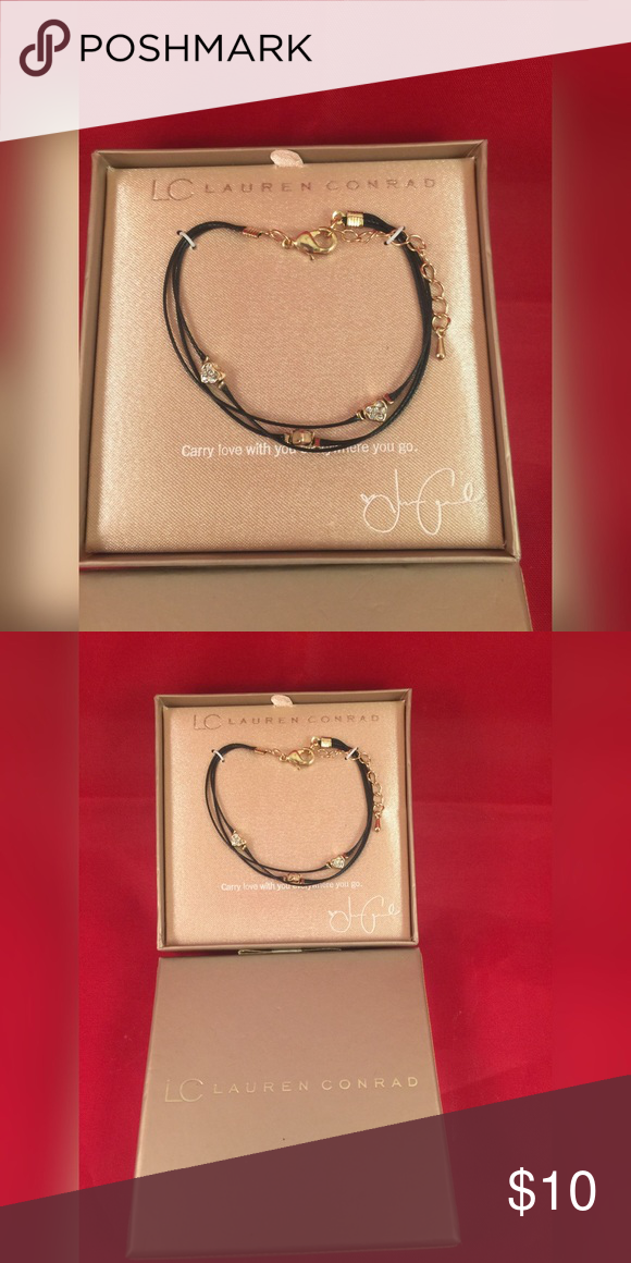 LC Lauren Conrad heart bracelet NWT LC Lauren Conrad heart bracelet. Carry love with you everywhere you go. Never been used. Received as a gift.   Ships from smoke and pet free home. I ship fast!  No trades just making room in my closet. Thanks! LC Lauren Conrad Jewelry Bracelets