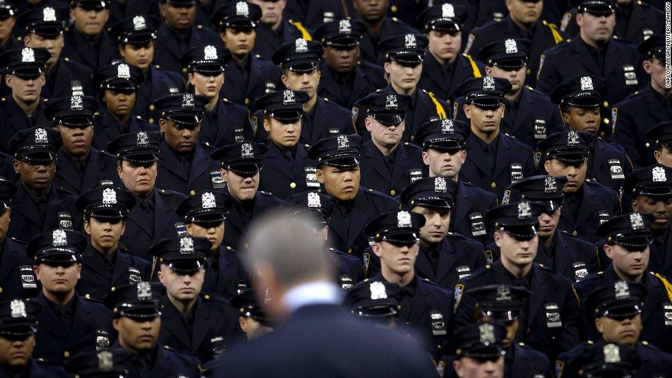 Graduating class of the new york city police academy with