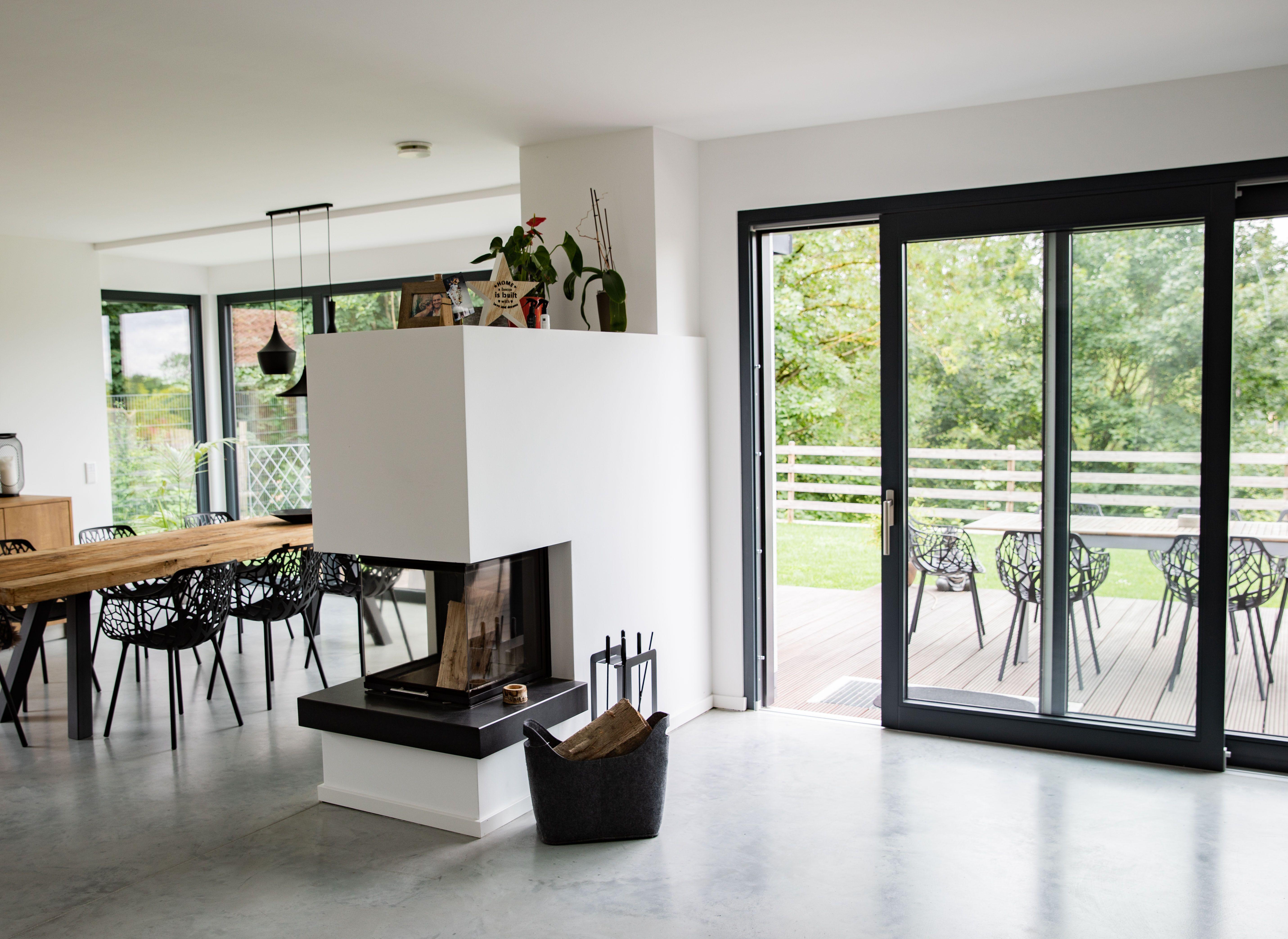 Betonfußboden Wohnzimmer ~ Sichtestrich betonboden wohnzimmer esszimmer esszimmer in 2019