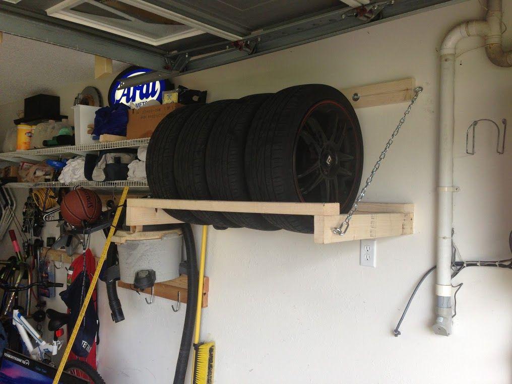 Diy Garage Wheel Tire Storage Rack Team Integra Forums Diy Storage Rack Garage Storage Overhead Garage Storage