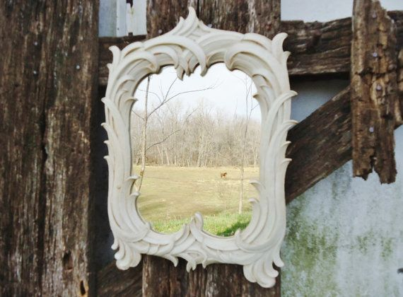 Vintage Dimensional Wall Mirror - Syroco by KnickofTime