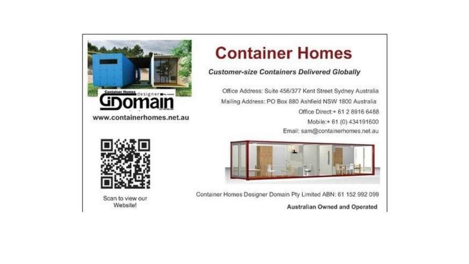 container Homes Info pack | Shipping container buildings and ...