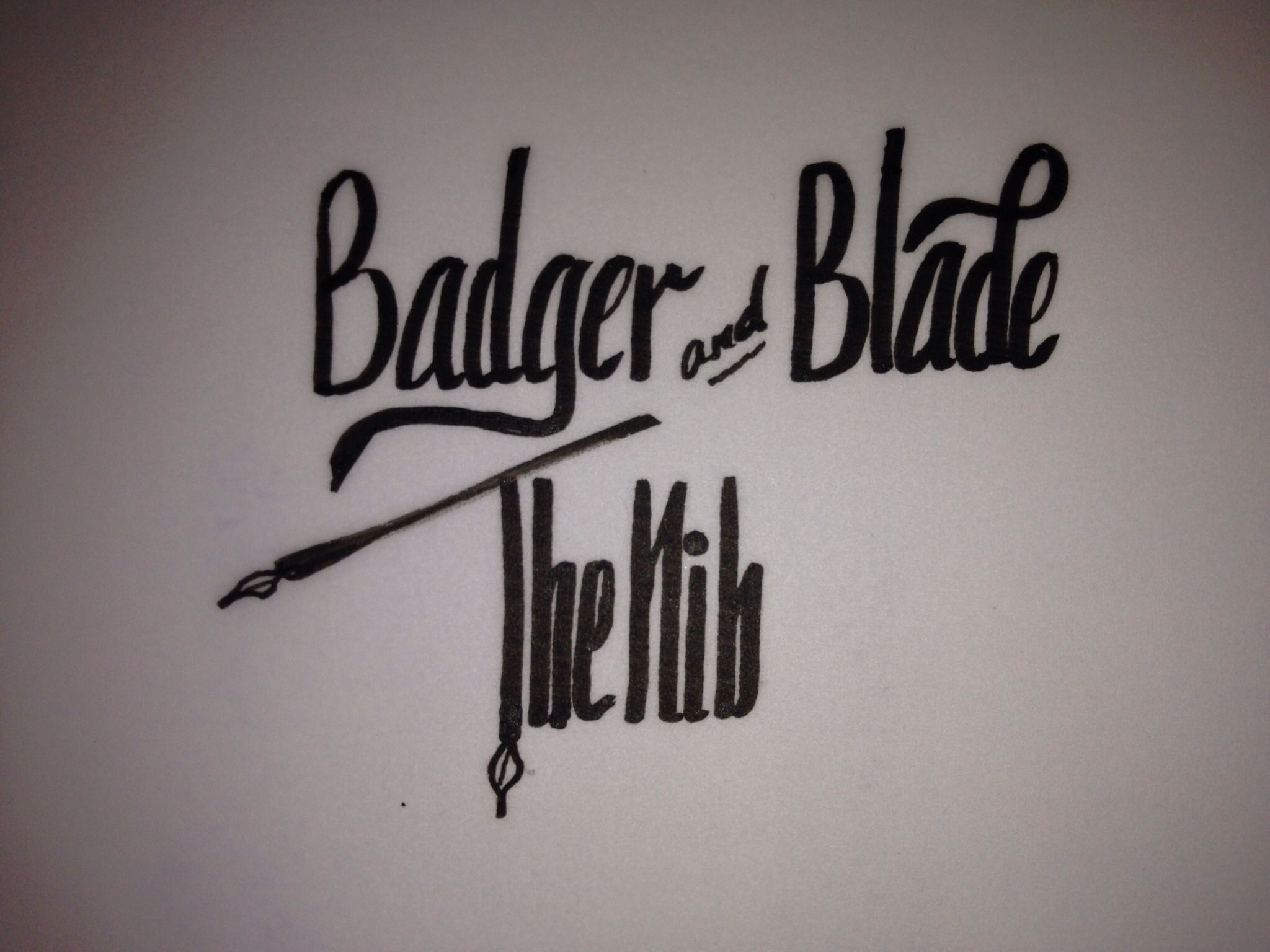 Badger and Blade Nib forum logo that I created with a brush pen  I