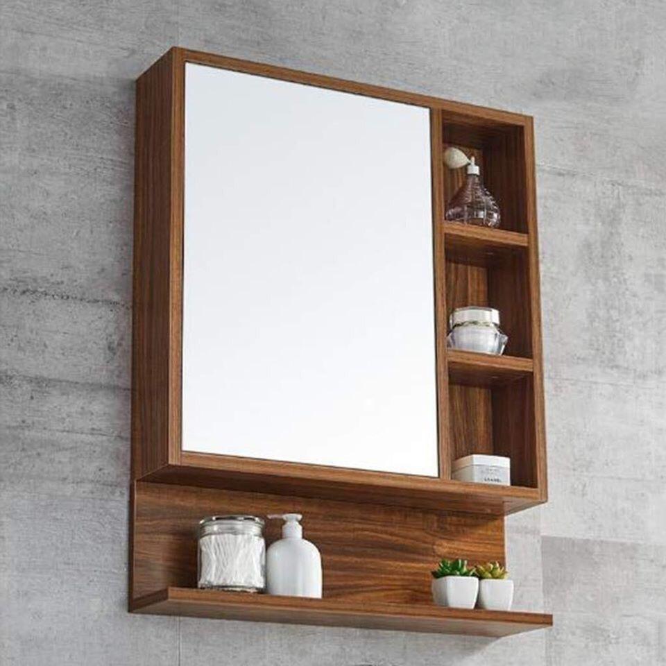 Arham Shelf Toilet Room Decor Minimalist Home Furniture Bathroom Mirror With Shelf [ 960 x 960 Pixel ]