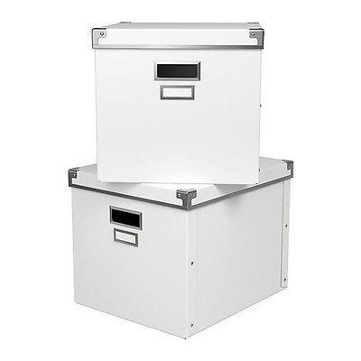 Aufbewahrungsbox Mit Deckel Ikea ikea kassett box mit deckel weiß aufbewahrungsbox schachtel 33x38x