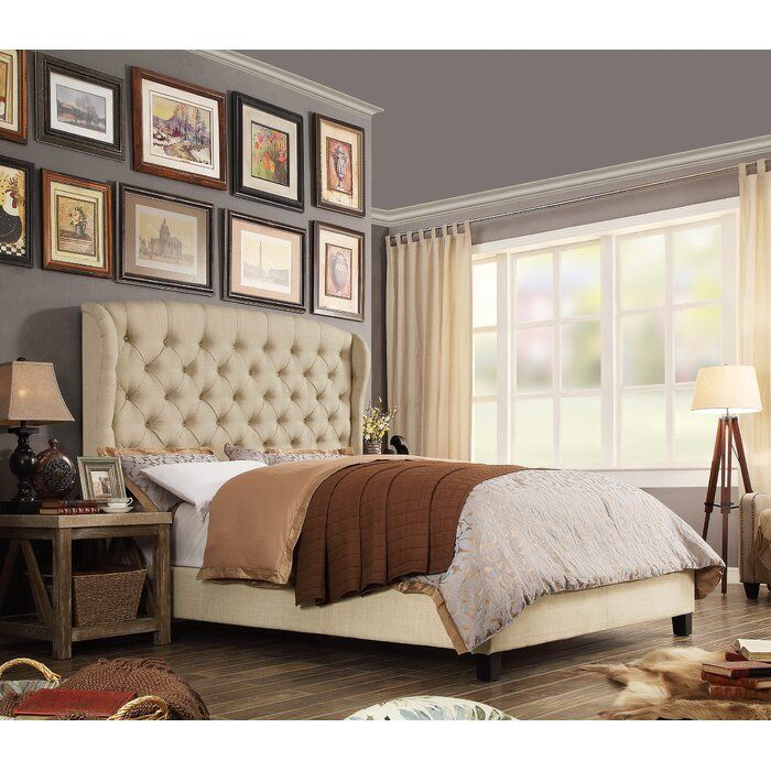 Three Posts Maryport Upholstered Standard Bed Reviews Wayfair Upholstered Panel Bed Upholstered Beds Furniture