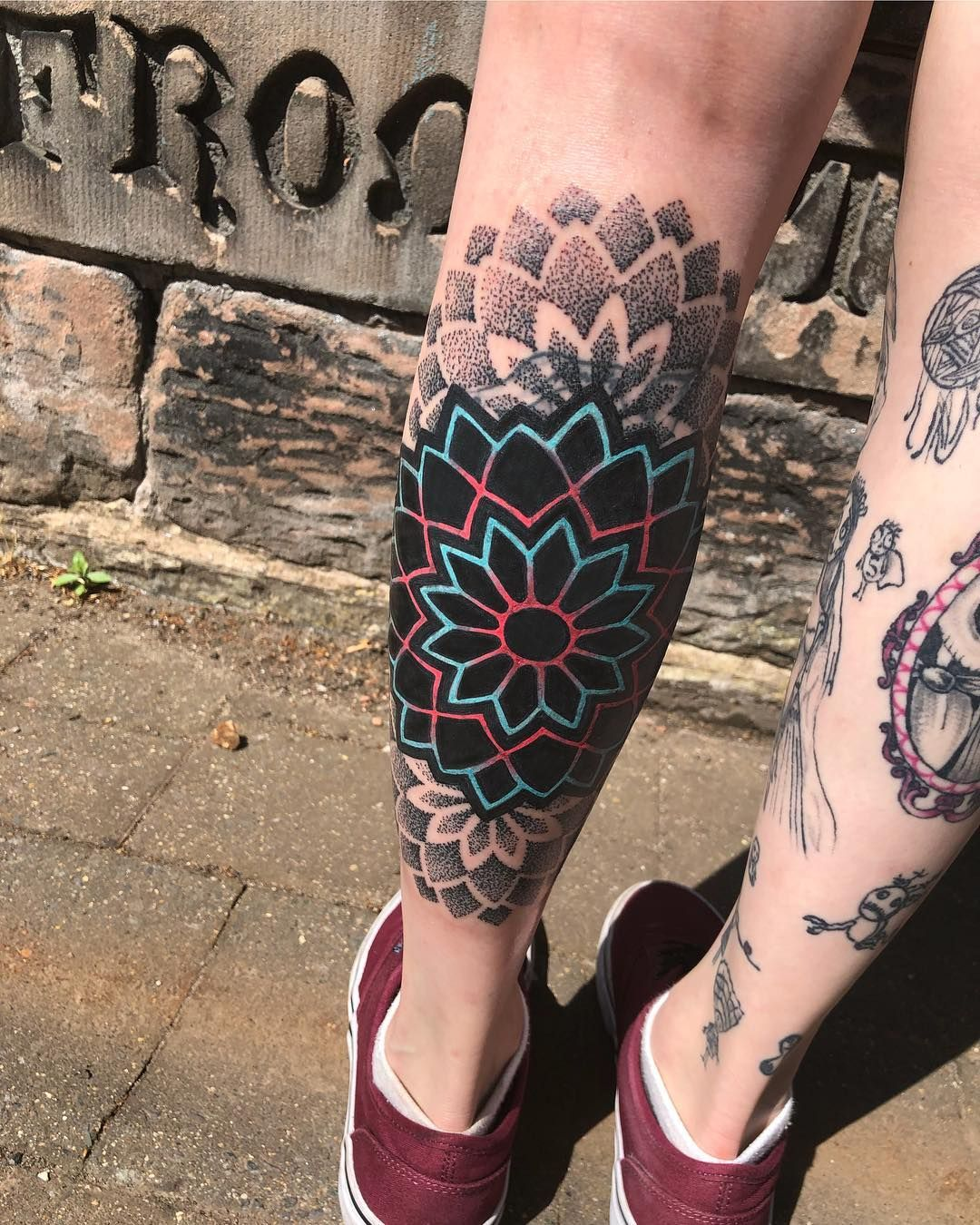 """Tony Kennedy on Instagram: """"Neon mandala done today! I would love to do more like this! This one was a coverup/blastover so if anyone has any bare skin and they would…"""""""