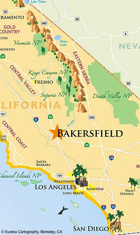 State Regional Hotel Locator C Eureka Cartography Berkeley Ca