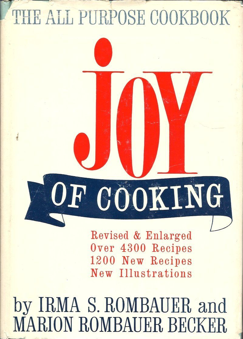 rose7a on Bonanza.  Specializing in Vintage Cookbooks and Drawing / Painting Technic Books at reasonable prices!     $12.00  Joy of Cooking Cookbook by Irma S Rombauer & Marion  Rombauer Becker 1964 print....I have had this cookbook for over 40 years.  It was a gift from my mother.  I still have her original one.