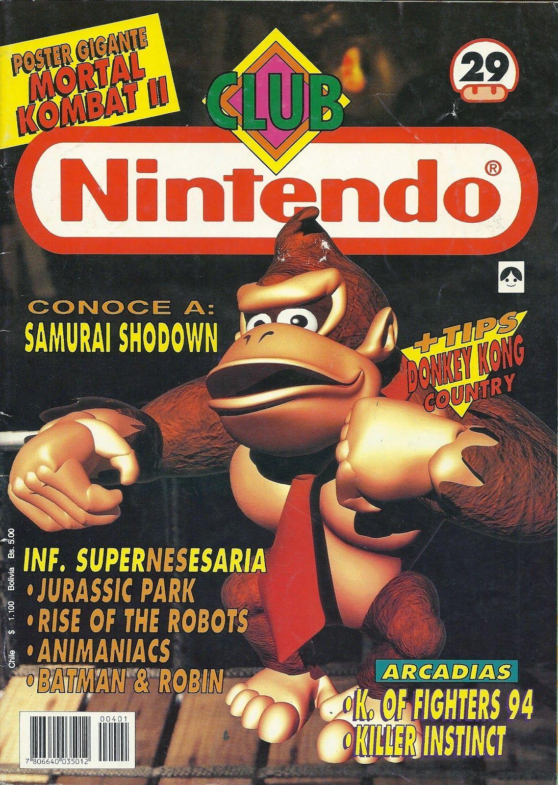 Club Nintendo Año 04 Nº 29 Donkey Kong Country (SNES) Enero 1995 Español Chile