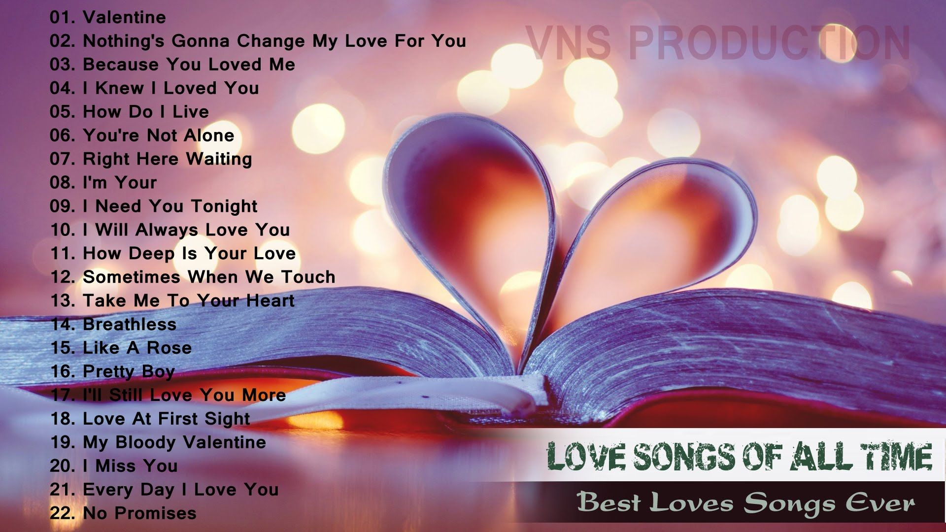 List of best love songs ever