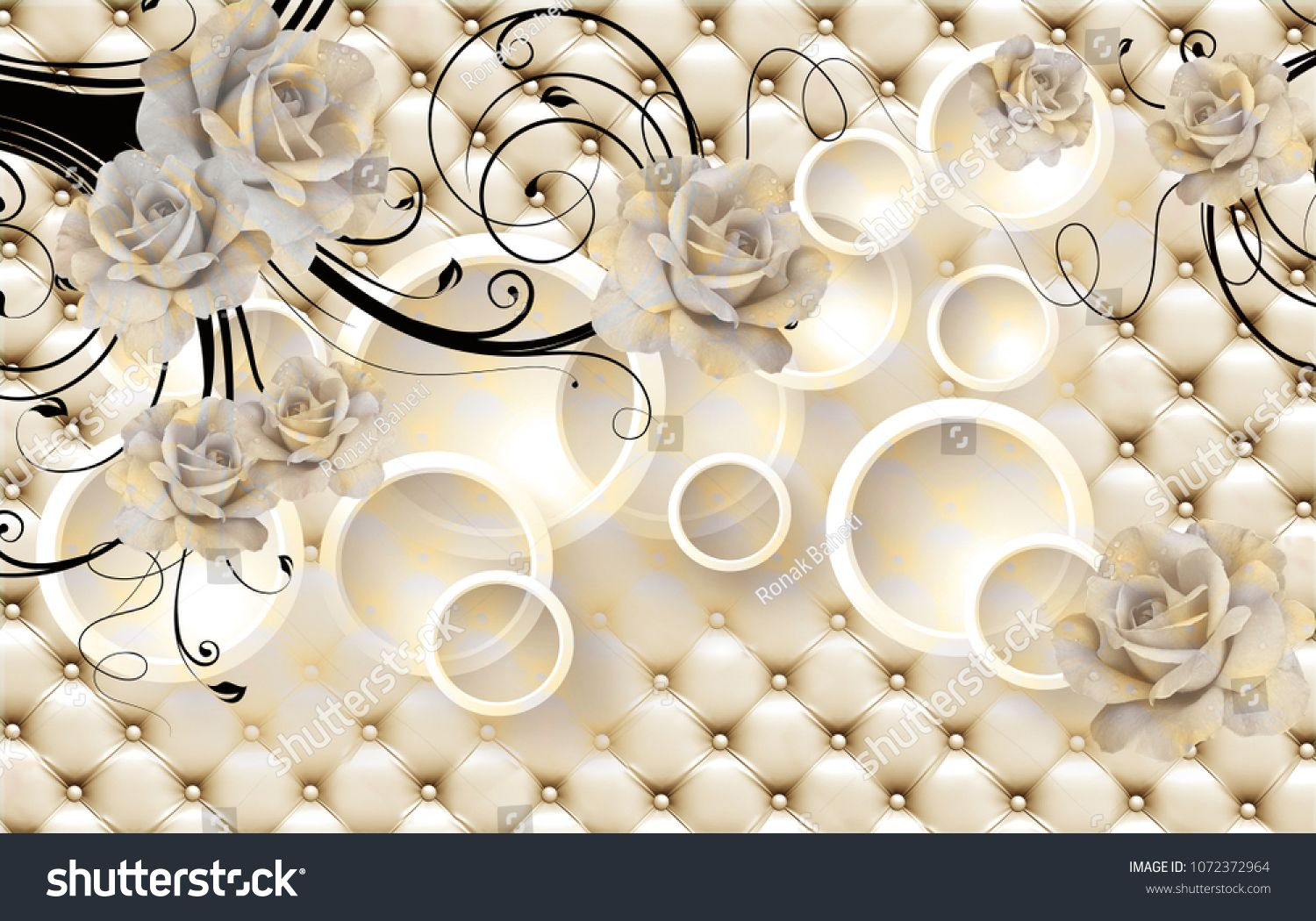 3d Flowers Background With Circle Wallpaper For Walls Sponsored Ad Background Flowers Circle Walls Wall Wallpaper 3d Wallpaper Design 3d Flowers