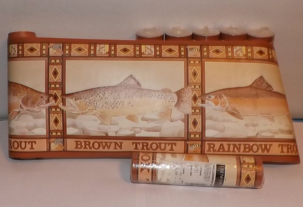 10 rolls rainbow trout fish eisenhart wallpaper wallcovering border