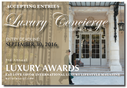 CALL FOR ENTRIES - LUXURY AWARDS - LUXURY CONCIERGE OF THE YEAR -