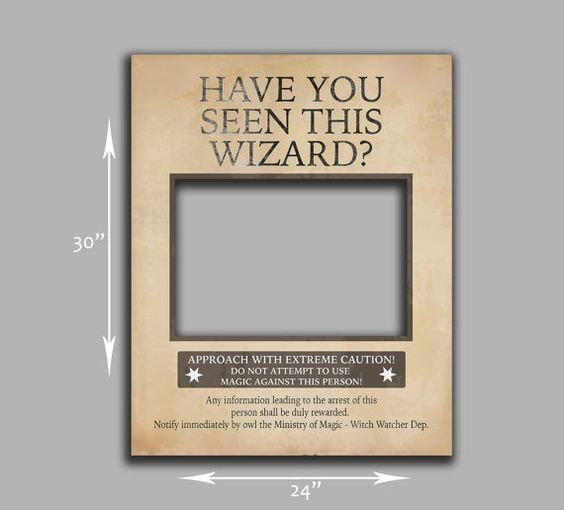 graphic about Have You Seen This Wizard Printable named Pin upon Harry Potter