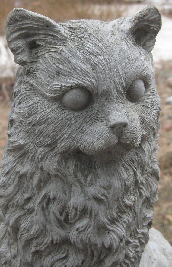 Large Concrete SITTING CAT Statue | Pinterest | Cat statue