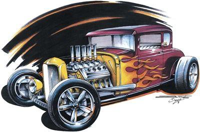 1932 Rat Rod ford Hot Rod Hoodie Weesner Hoodie