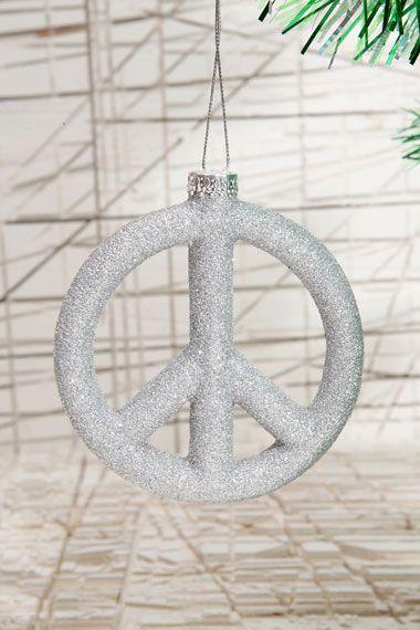 Peace Sign Christmas Tree Decorations Peace Pinterest Tree