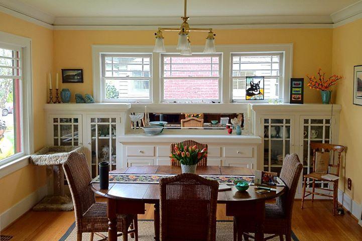 Remodel  Craftsman Bungalow Built In Kitchen Buffet