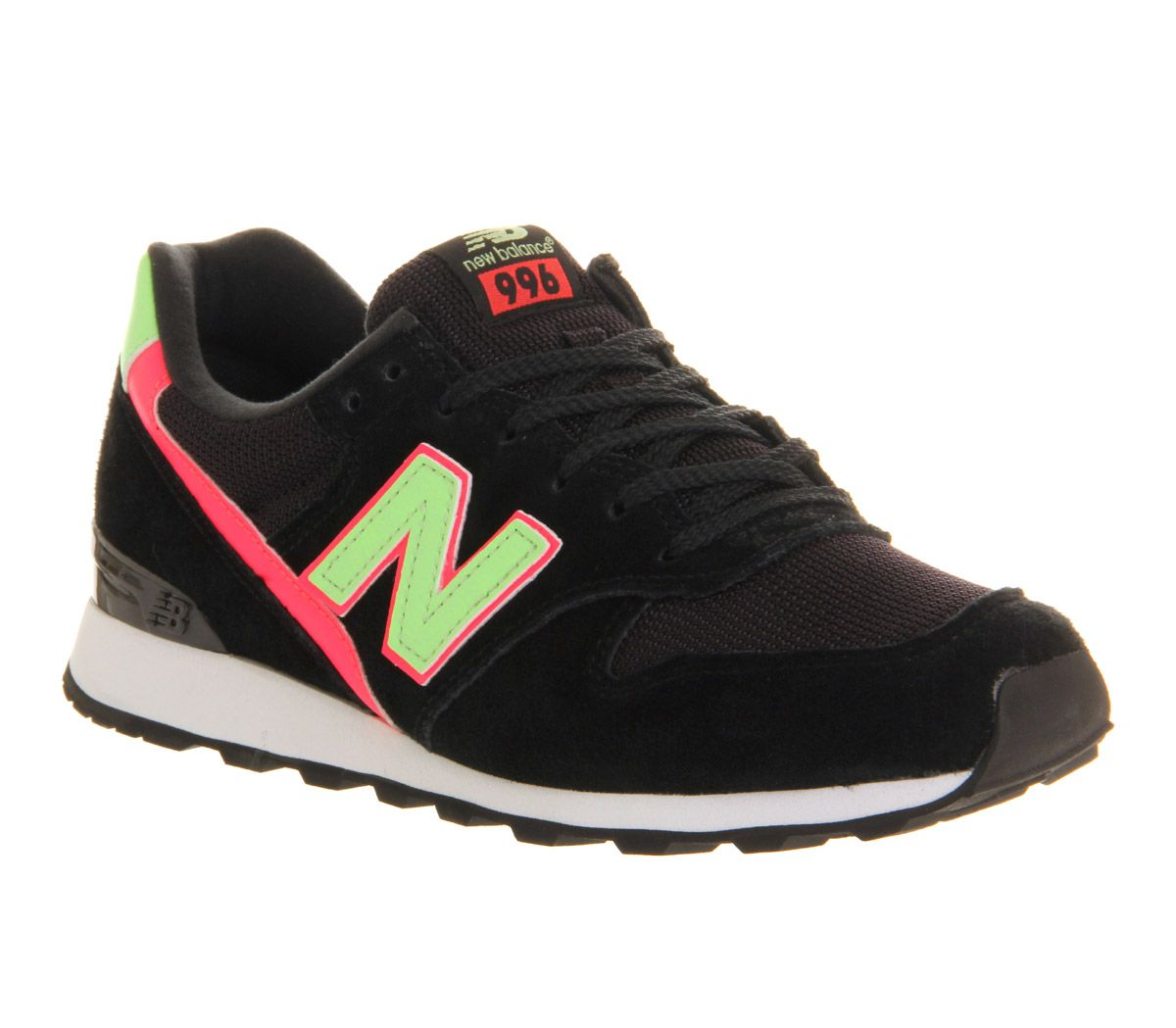 separation shoes 5b500 15957 New Balance Wr996 Black Green Pink Exclusive - Hers trainers ...