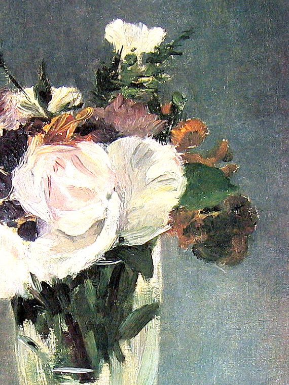 Poster Flowers in a Crystal Vase by Eduard Manet
