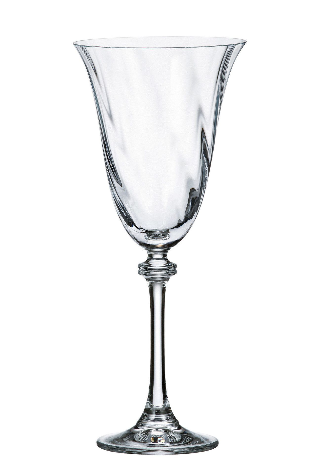 Bohemia Crystal Alexandra Optic Wine Gles Set Of 6
