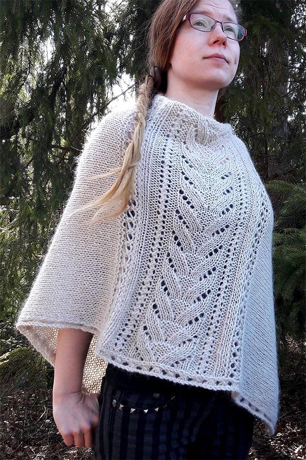 Free Knitting Pattern for Denizen Poncho - Lynne Vogel's ...
