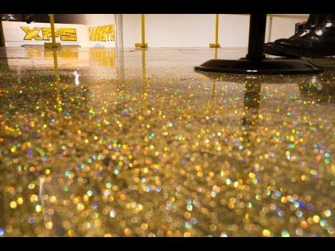 How To Do A Metallic Epoxy Floor Quot Gold Glitter Quot Start To