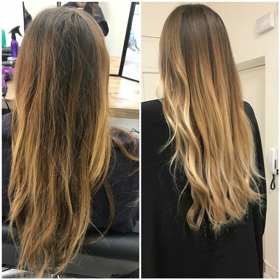nouvelle réalisation | avant / après : ombre hair #nosrealisations