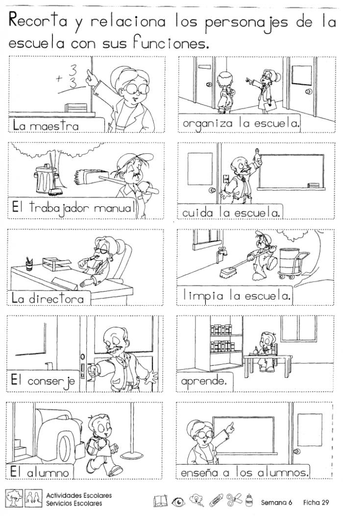 Actividades Escolares Y Servicios Escolares 2do Grado Actividades Escolares Practicas Del Lenguaje Lectura De Palabras