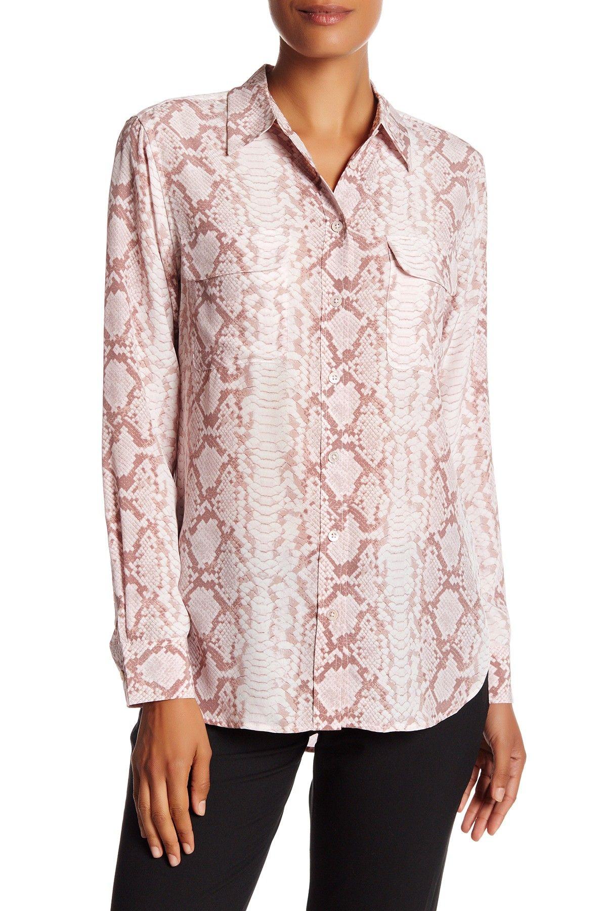 Signature Slim Fit Silk Shirt