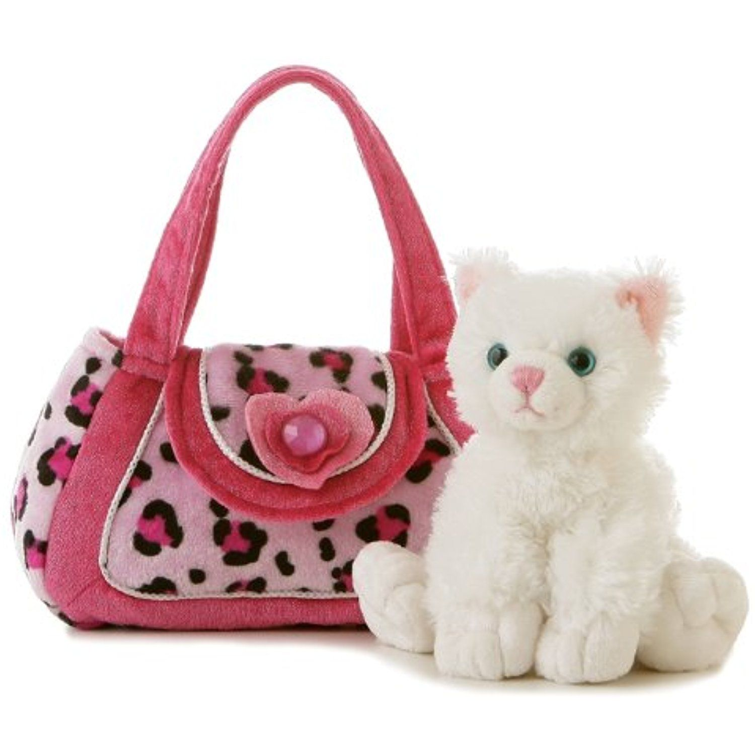 Aurora World Fancy Pal Kayte Plush Cat Pet Carrier Purse See This Great Product This Is An Affiliate Link Stuffed Pet Carriers Pet Carrier Purse Toy Bags [ 1500 x 1500 Pixel ]