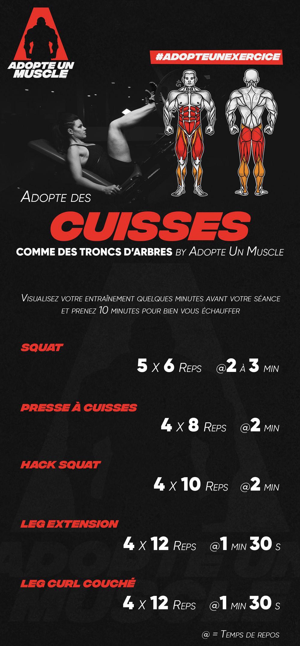 Adopte Des Cuisses Comme Des Troncs D Arbres By Adopte Un Muscle Ce Programme De Musculation Pour Jambes Cible Princip Sports Programme Sports Sport Fitness