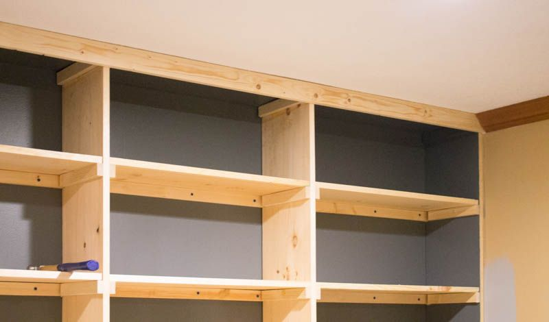 The Affordable way to Build Built in Bookshelves (Part 2) images