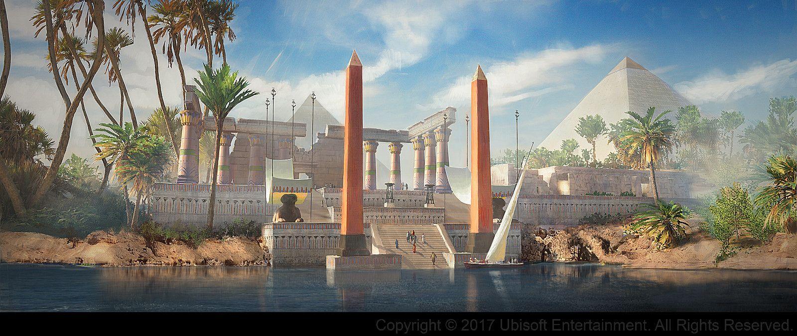 Calendario Ubisoft.Ubisoft Assassin S Creed Origins Art Blast Landscape And
