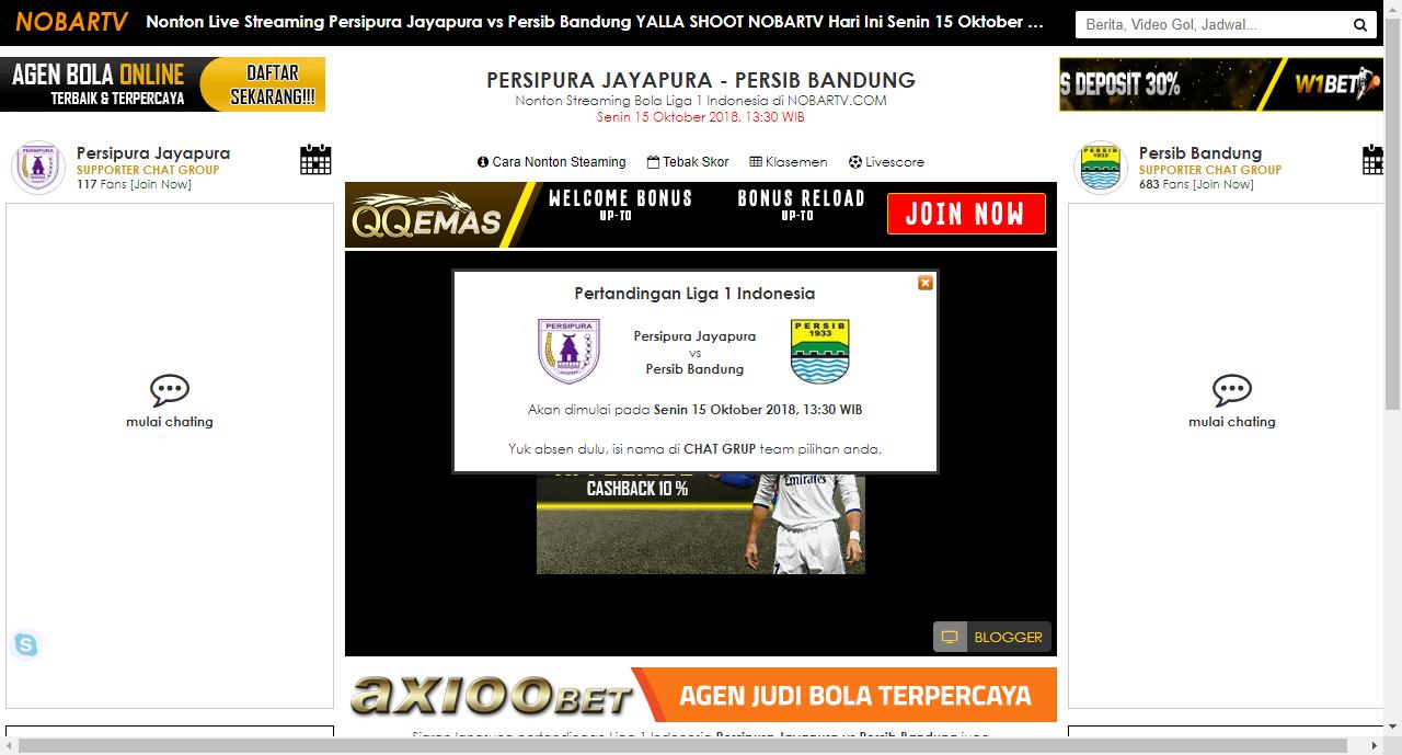 Nonton Live Streaming Persipura Jayapura Vs Persib Bandung Yalla