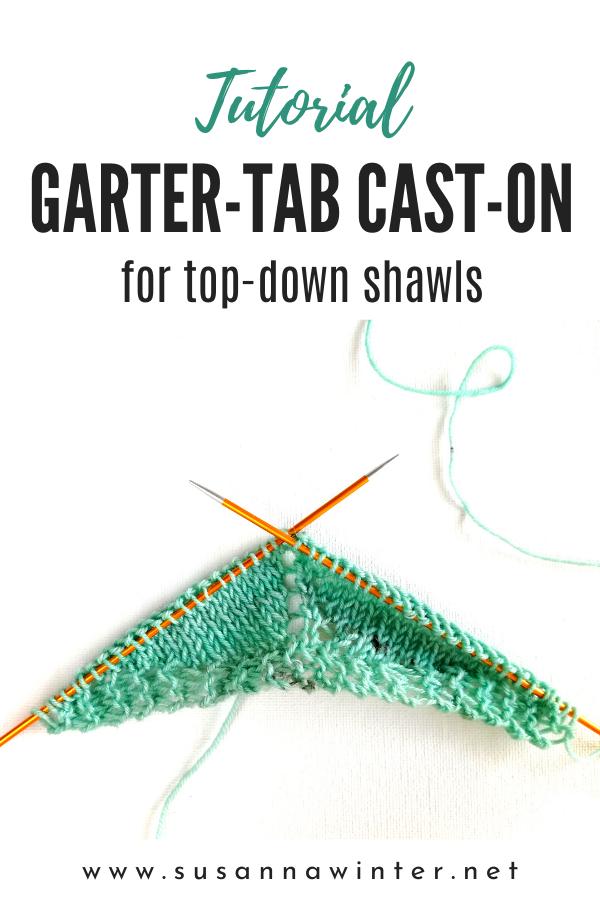How To Knit Garter Tab Cast On Tutorial Talvi Knits Knitting Tutorial Garter Stitch Knitting Knitting