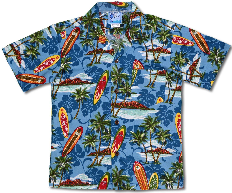 Made In Hawaii, Surfboards Diamond Head Boy's Hawaiian Shirt ...