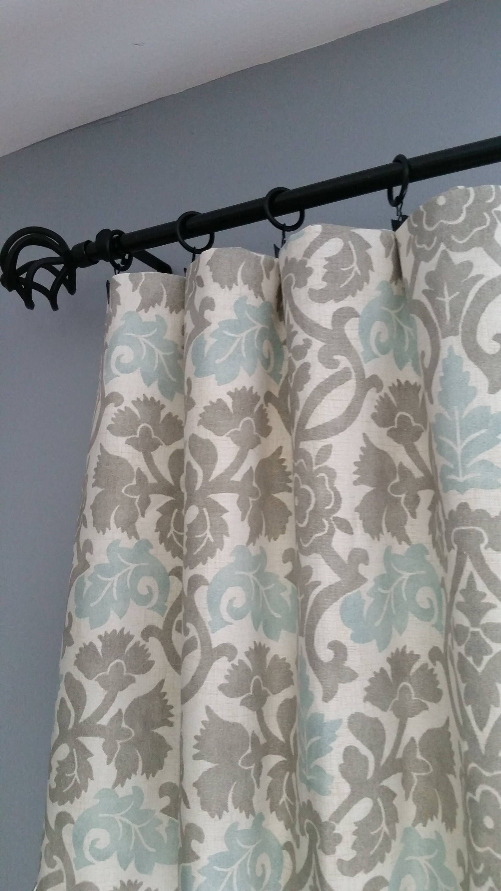 Gray Curtain Panels Blue Curtain Panels Gray And Turqu