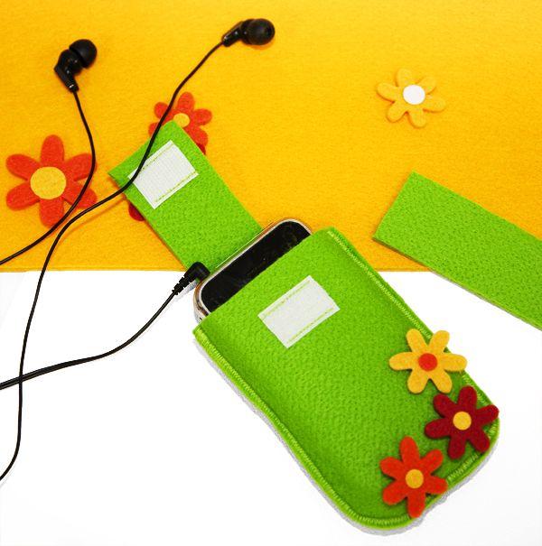 Frühlingshafte Tasche für Handy oder iPod zum selbernähen