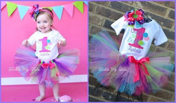 Cute as a Button Birthday Tutu Outfit-Cute as Button